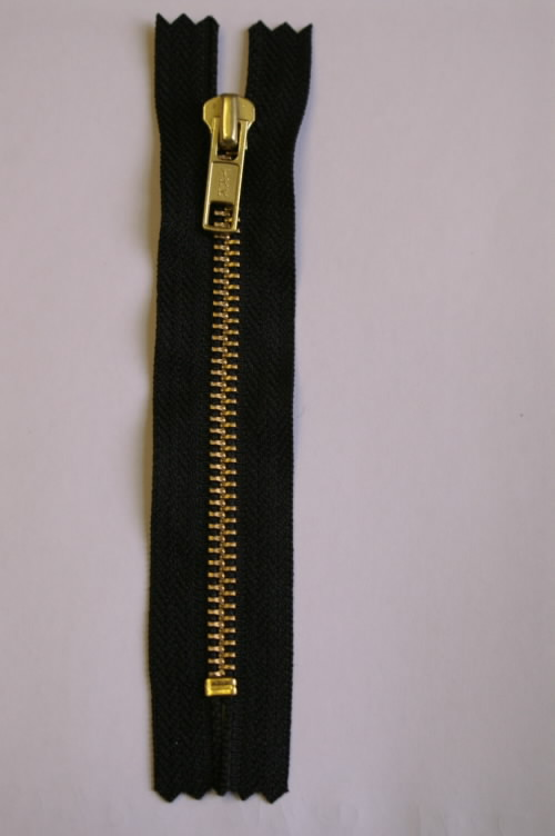 "YKK Jeans Zip - Golden Brass 1 7.5cm/3"" NAVY - 233 - Click Image to Close"